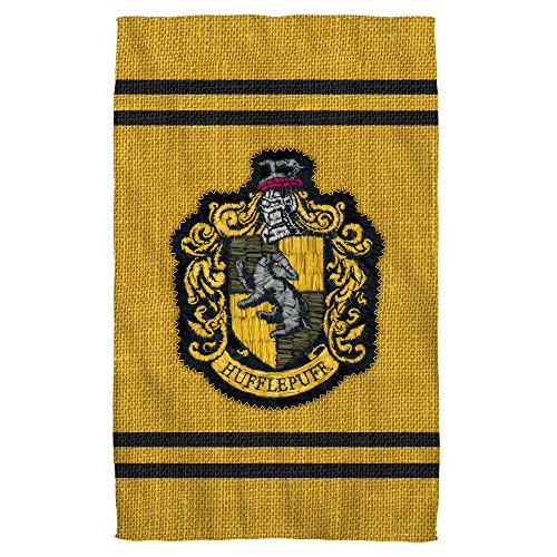 Hufflepuff Stitch Crest -- Harry Potter -- Bath Towel (27'' x 52'') by Harry Potter