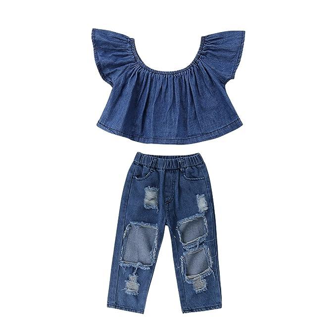 Amazon.com: Conjunto de ropa de pantalones vaqueros para ...