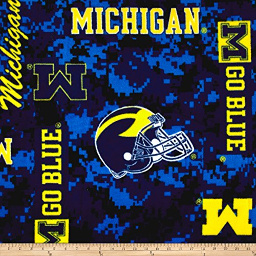 Sykel Enterprises Collegiate Fleece Universtiy of Michigan Digital Fabric by The Yard ()