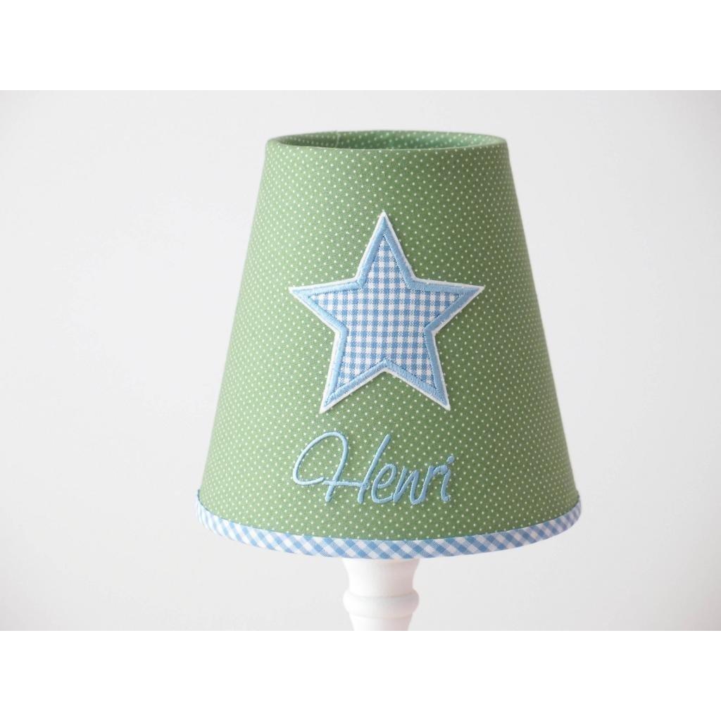 Geschenk f/ür Kinder Designs hellblaurosa Stehlampe mit Wunschname in vers Anker hellgrau