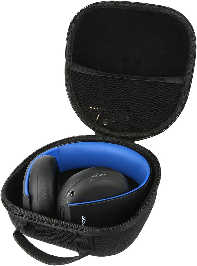 Teckone EVA Funda Estuche Bolso Para Sony - Auriculares Estéreo Inalámbricos (PS4)/Para Mando DualShock 4(1pcs). Mesh Pocket Para otro accesorios