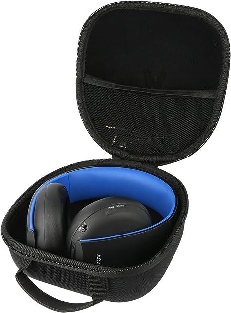 Teckone EVA Funda Estuche Bolso Para Sony Auriculares Inalámbricos Platinum PS4.Meshpocket para cables.: Amazon.es: Videojuegos