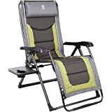 EVER ADVANCED Oversize XL Zero Gravity Recliner Padded Patio Lounger Chair with Adjustable Headrest Support 350lbs…