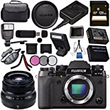 Fujifilm X-T2 Mirrorless Digital Camera (Black) 16519247 + Fujifilm XF 35mm f/2 R WR Lens 16481878 + NP-W126 Lithium Ion Battery + 43mm 3 Piece Filter Kit + 128GB SDXC Card + Carrying Case Bundle