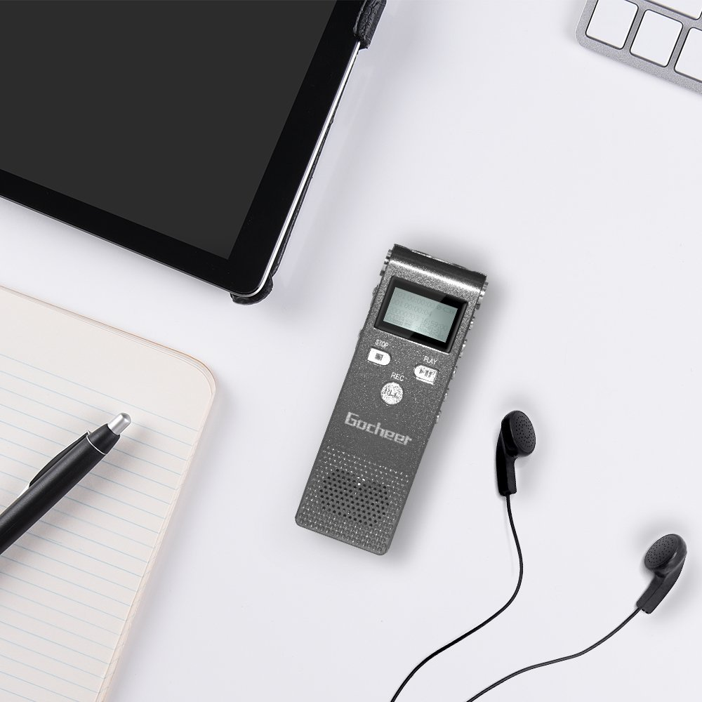 Gocheer Multifunctional Rechargeable 8GB Digital Audio Voice Recorder/Dictaphone/MP3 Player
