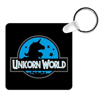 Llavero Unicorn World. Parodia Jurassic World. Llavero friki ...