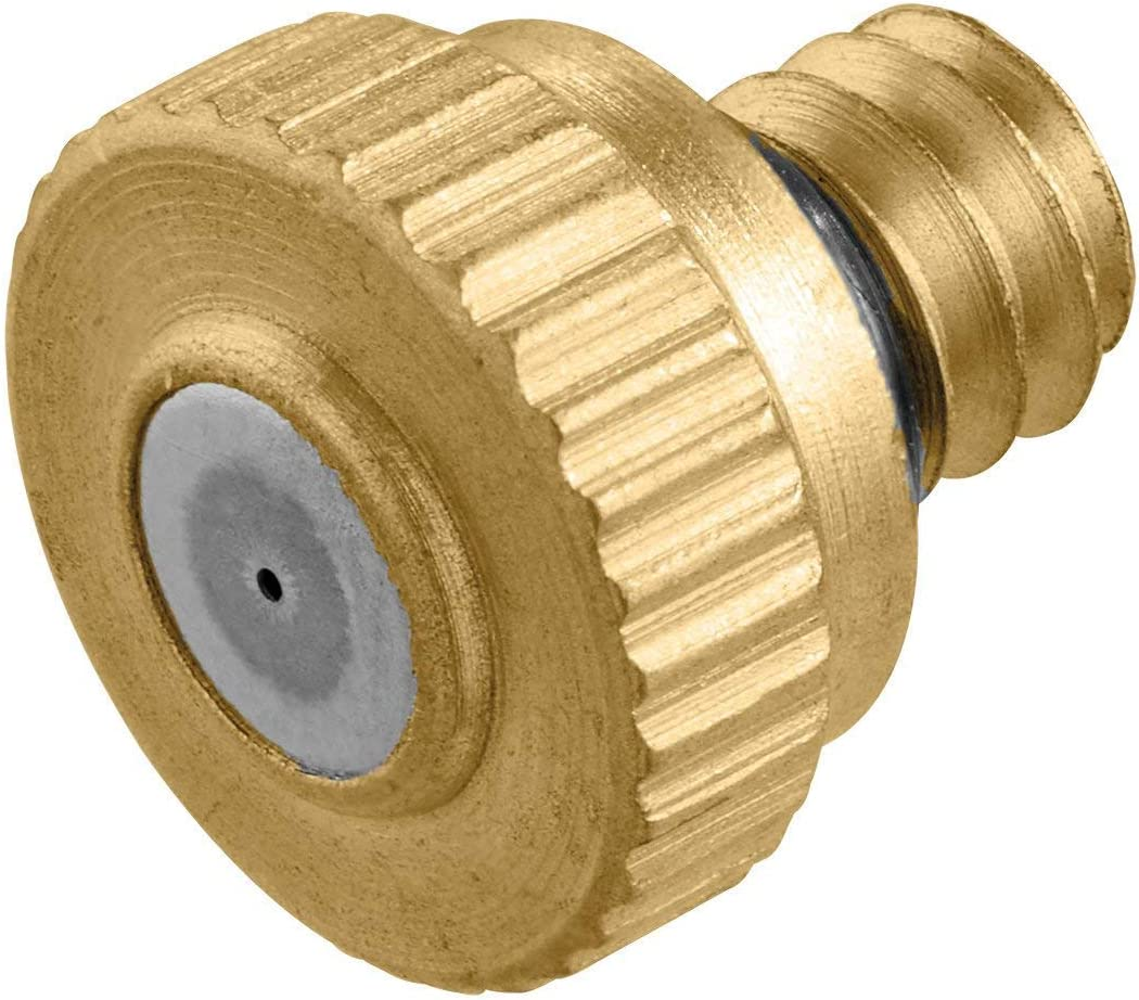 Orbit Mister Nozzles - 10 Pack (50 Misters) | Brass and Stainless Steel Outdoor Misting | Cool Your Patio with a Fine Water Mist Nozzle