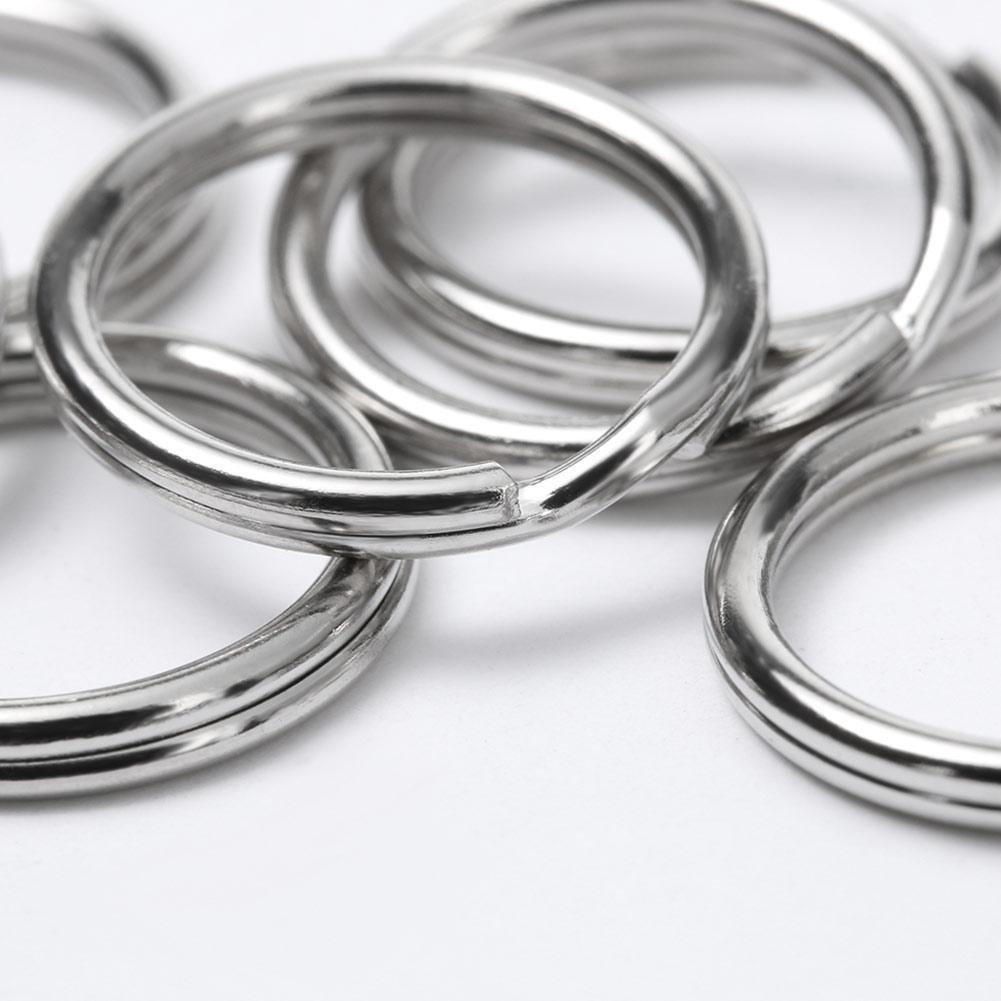 LINKLANK 10 St/ück Schl/üsselringe 10mm Schl/üsselanh/änger Ringe Schl/üssel Zubeh/ör Schl/üsselringe Keychain Ringe Binder f/ür Loseblatt Haus Split Ring f/ür Auto