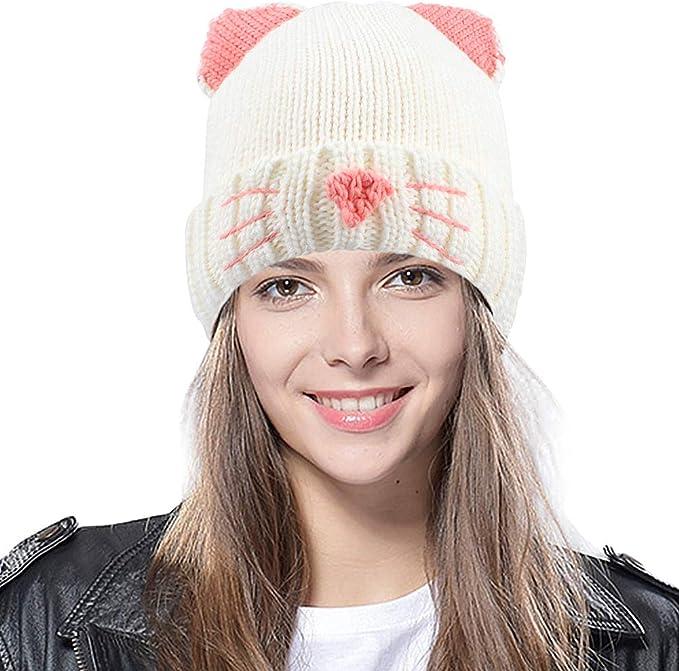 Tacobear Sombrero Mujer Gorro Invierno Caliente Gorra Oreja de ...
