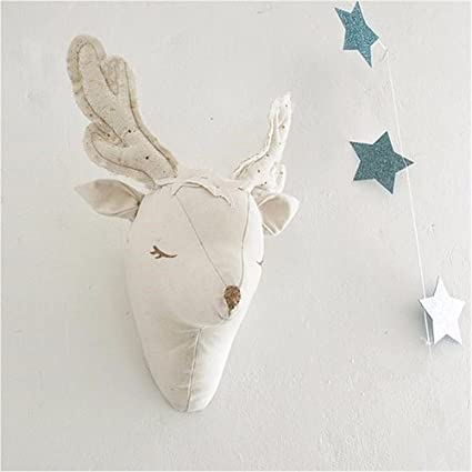 Amazon Com 3d White Animal Deer Head Wall Hanging Decorations Toys