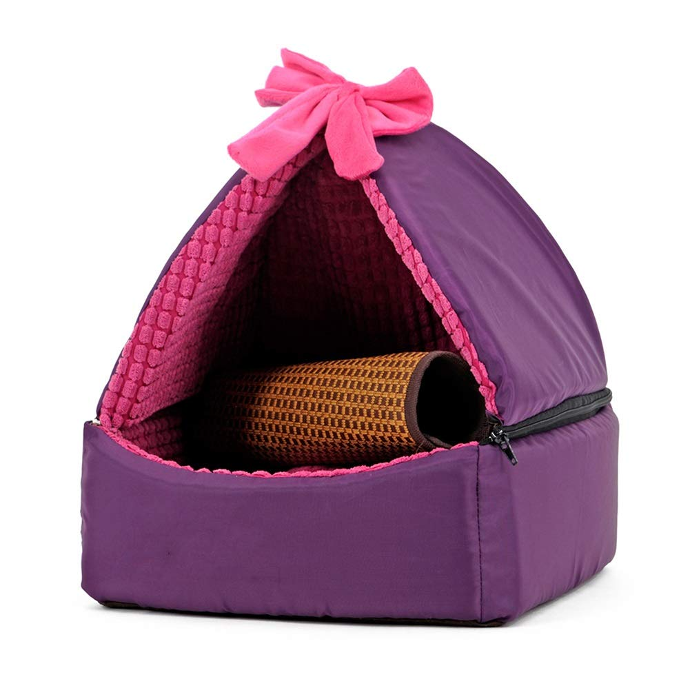 L GOUWO Kennel Warm Washable Pet Nest Kennel Small And Medium Kennel Pet Bed Cat Litter Cat House Washable Four Seasons Available (Size   L)