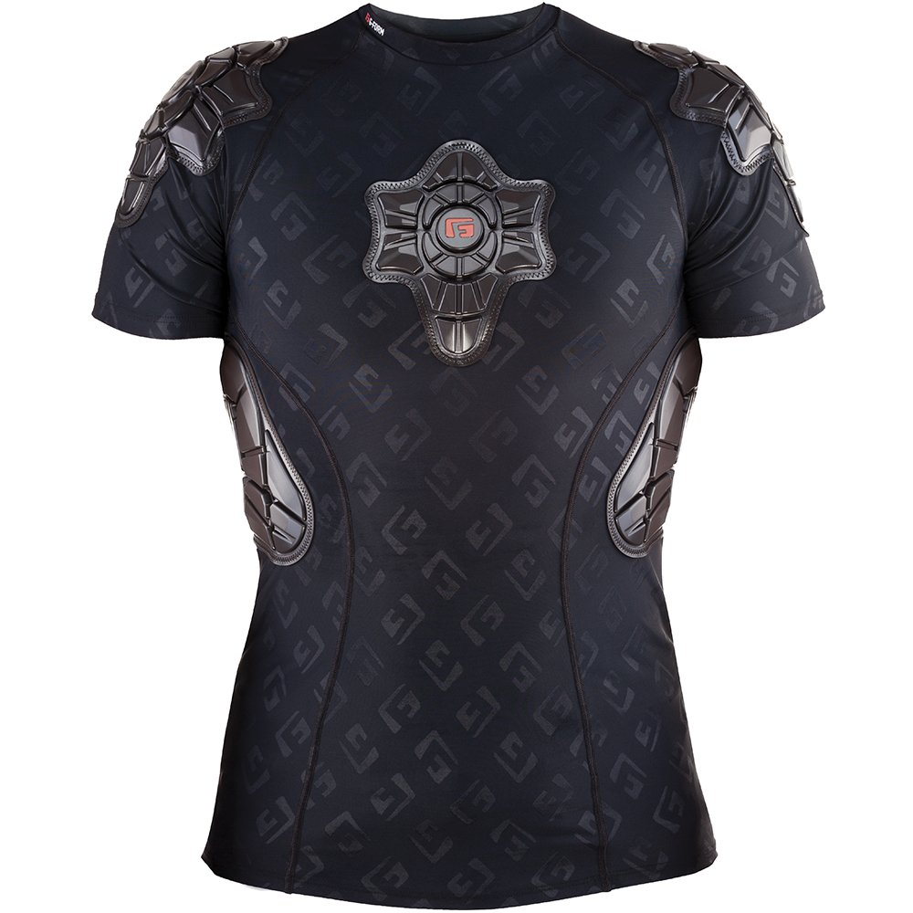 G-Form Pro-X Padded Compression Shirt, Black Logo, Adult Small