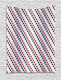asddcdfdd USA Tapestry, July Fourth Stars Citizen National Day Patriotic Western Salute to the Union, Wall Hanging for Bedroom Living Room Dorm, 60 W X 80 L Inches, Silver Indigo Red