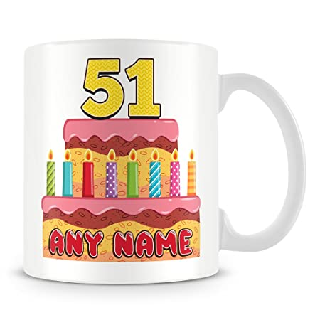 51st Birthday Gift Personalised Mug Cup