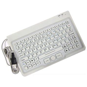 BeMatik - Teclado Industrial USB de 85 Teclas con ratón y Blanco: Amazon.es: Electrónica
