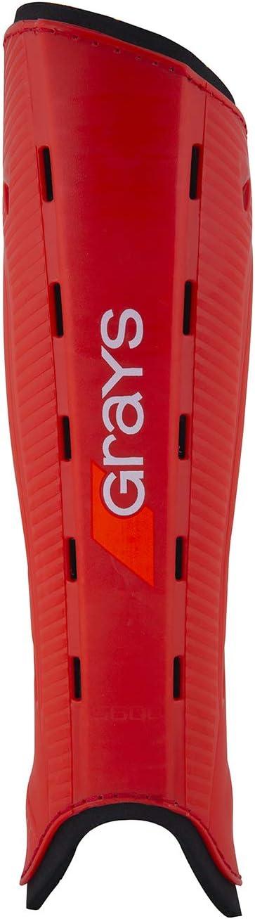 Red//Black GRAYS G600 Hockey Shinguards