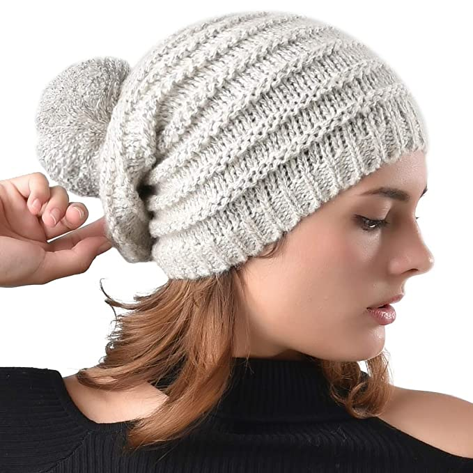FURTALK Women Slouchy Beanie Hat - Winter Fall Soft Oversized Cable Knit Cap 0dfccaac535