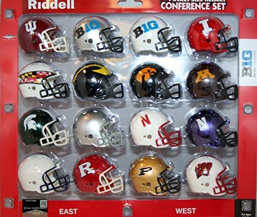 Big 10 Conference 2014 Pocket Pro Mini Football Helmet Set - New Teams Included Big Ten