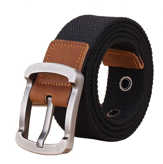 Amazon.com: jinghao F1 Durable lona Cinturones Cinturón para ...