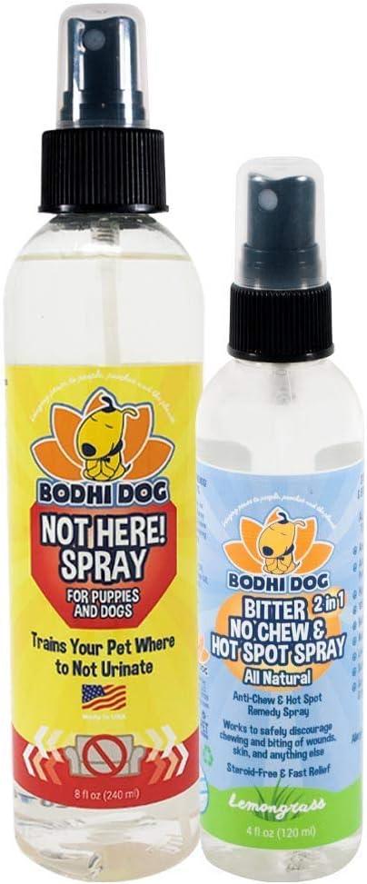 Bodhi Dog Not Here Spray 8oz + Bitter 2 in 1 No Chew 4oz Bundle