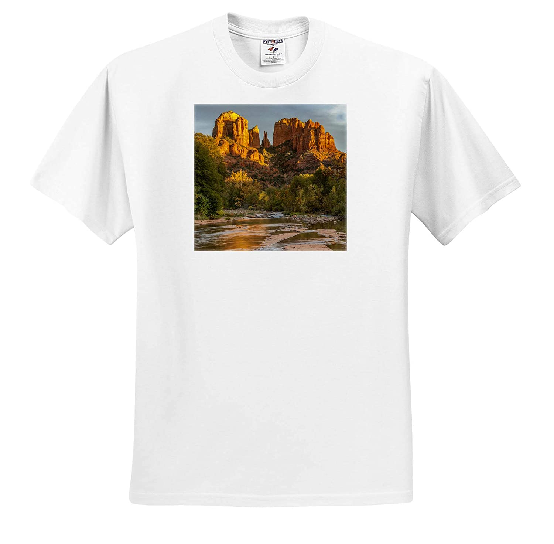 3dRose Danita Delimont Sedona Arizona Adult T-Shirt XL ts/_314550 Cathedral Rock Arizona USA