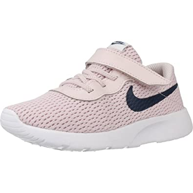 NIKE Girls Tanjun Shoe Barely RoseNavyWhite Size 6 ...