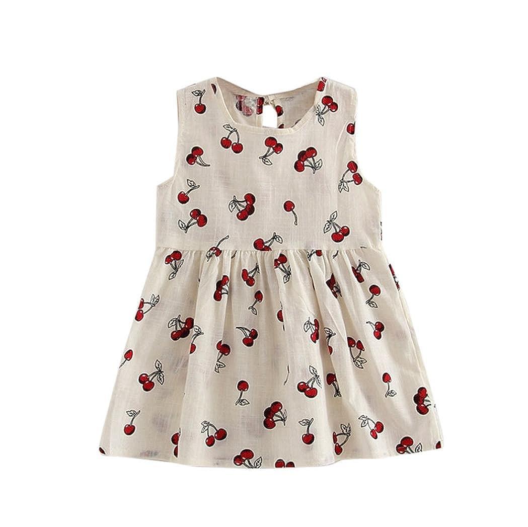 IGEMY Toddler Girls Summer Princess Dress Kids Baby Party Wedding Sleeveless Dresses