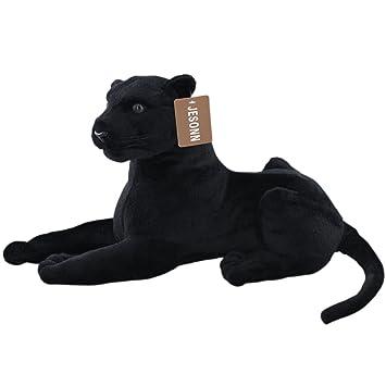 Amazon Com Jesonn Realistic Stuffed Animals Plush Toy Leopard Black