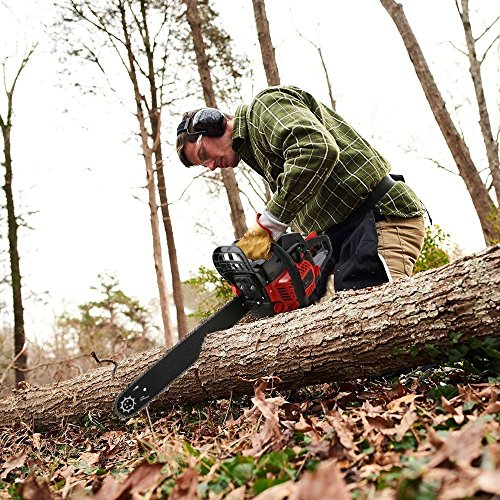 Start Wrap Around Oil Tank - dtemple Professional 52CC Chain Saw 4 HP 20 inch Chainsaws 2 Strokes Single Cylinder Gasoline Engine US Stock