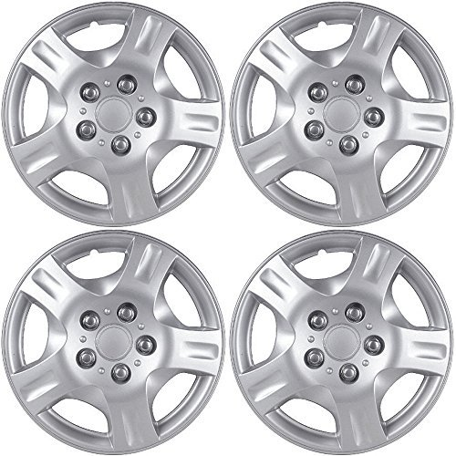 Steel Jeep Rear Driver (Hubcaps for 16 inch Standard Steel Wheels (Pack of 4) Wheel Covers - Snap On, Silver)