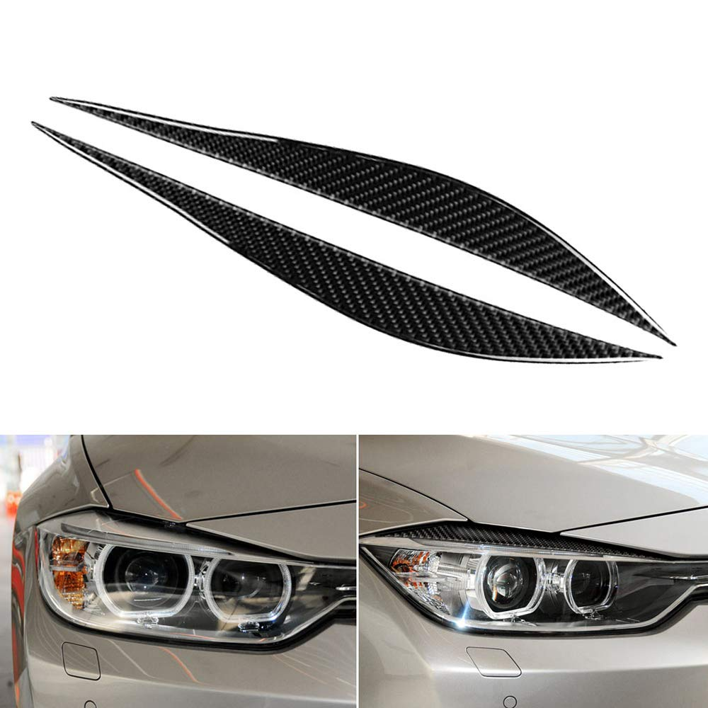 2012-2020 Carrfan Front Scheinwerfer Augenbrauen Dekorativ Cover Sticker Kohlefaser f/ür BMW F30 F31 F32 F33 F34