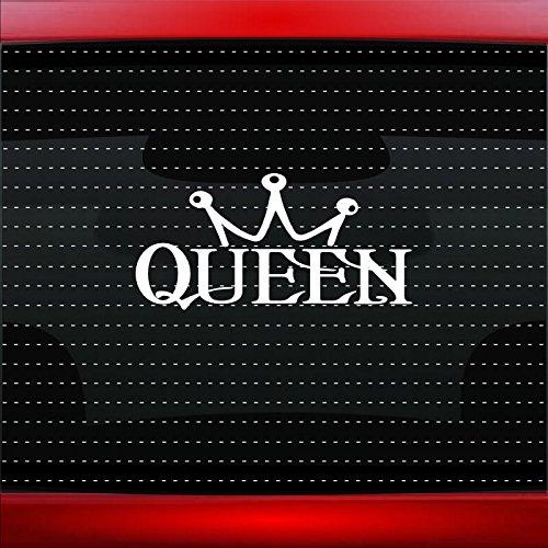 Queen #1 Cute Funny Sexy Princess Crown Car Sticker Truck Window Vinyl Decal COLOR: BABY BLUE