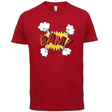 Superheld Bam - Herren T-Shirt - Rot - XS