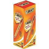 BIC 油性ボールペン オレンジ 0.7 E-ORGF20EGRED 赤 20本