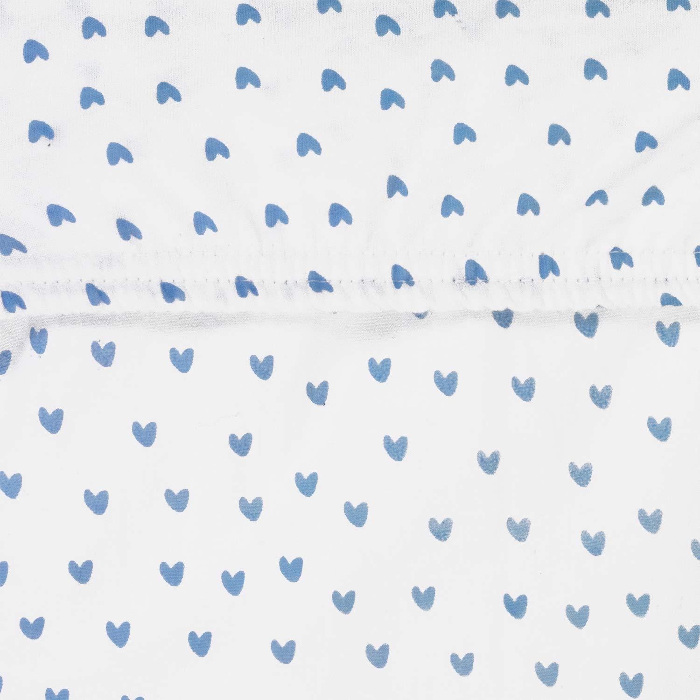 Praktischer Gummizug Kuschelig Weich OEKO-TEX zertifiziert Motiv: Herz von emma /& noah 70x140cm 100/% nat/ürliche Baumwolle Premium Kinder Spannbettlaken Spannbetttuch Junge /& M/ädchen