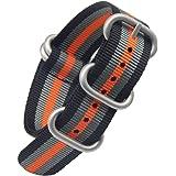 18-24mm nero / grigio / arancio high-end di lusso in stile NATO nylon balistico sostituzione cinturino cinturino per gli uomini