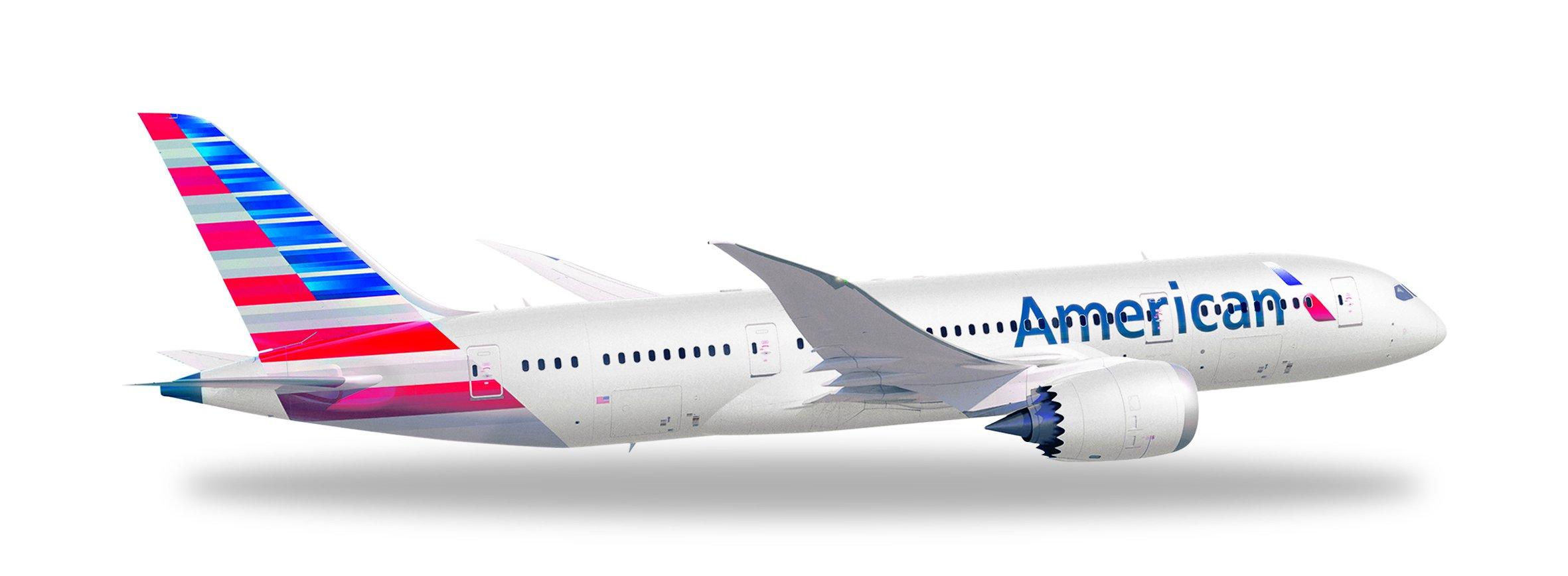 HERPA American 787-8 REG#N800AN Die Cast Aircraft (1/500 Scale)