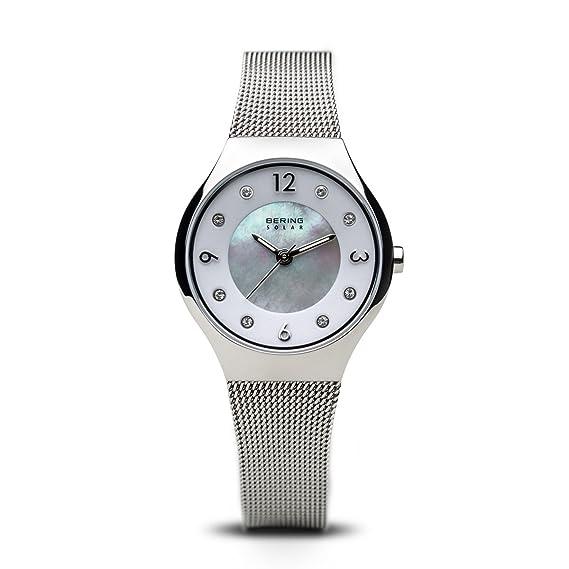 BEUN6 Reloj Analógico para Mujer de Energía Solar con Correa en Acero  Inoxidable 14427-004  Amazon.es  Relojes 8d2136afa2ea