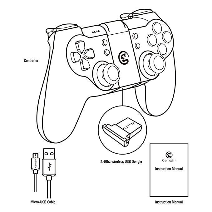 T1s Bluetooth Wireless Connection Gamepad Game Controller Indicator