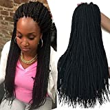 18 inch 8 Packs senegalese twist crochet 30strands/pack twist crochet hair braids synthetic