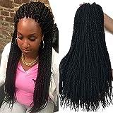18 inch 8 Packs senegalese crochet braids 30strands/pack Synthetic Crochet Braiding Hair black senegalese twist hair