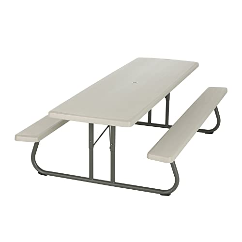 Lifetime 80123 Folding Picnic Table and Benches, 8 Feet