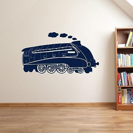 Train mallard steam engine wall decorations window stickers wall decor wall stickers wall art wall decals