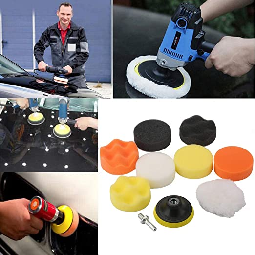 WEISY 5PCS Cone-shaped Sponge Tools Foam Multi-functional Pad Polishing Wax Polishing Pad Tool for Car Care