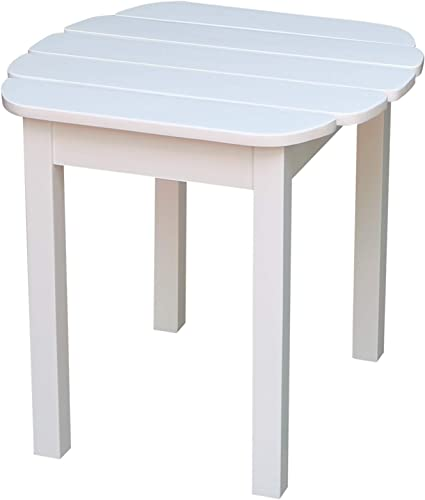 International Concepts T-51900 Adirondack Sidetable, White
