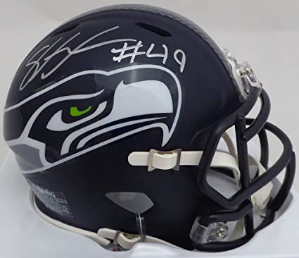 Shaquem Griffin Autographed Seattle Seahawks Mini Helmet In Silver MCS Holo 8fcd4cd46