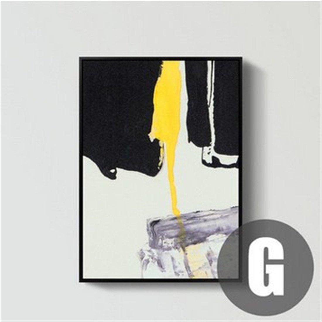 garantía de crédito G YIZHANGPintura Amarilla Abstracta Abstracta Abstracta de la cásCochea Pintura Moderna del Fondo del sofá Pintura nórdica de la Parojo decoración de la Sala Que Pinta la atmósfera Simple (los 52  72cm), g  precios al por mayor