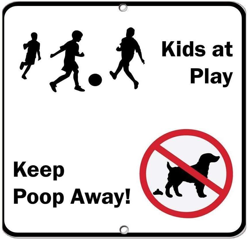 HNNT - Señal de Metal con Texto en inglés Kids at Play Keep Poop ...