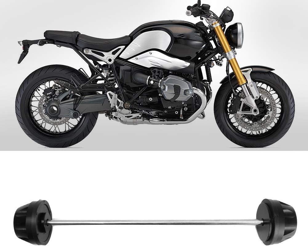 Qii lu Crash Protector nero moto ruota anteriore forcella forcella slider protezioni crash crash protettore asse misura per R nine T 2014-2016