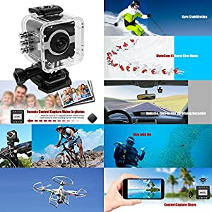MATECam Action Camera 4K WIFI Sports Camera Ultra HD Waterproof Mini DV Camcorder Video Recorder Action Cam